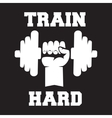 Train hard Lettering vintage typographic poster vector image