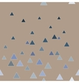 Triangle blue seamless pattern vector image