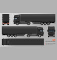 truck with trailer mockup vector image vector image