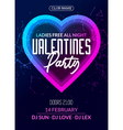 valentine party poster or flyer design template vector image vector image