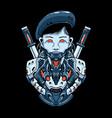 women cyber head vector image