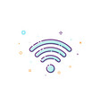 concept wifi icon of wireless access point thin vector image