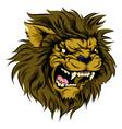 lion mascot character vector image