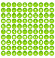 100 doctor icons set green circle vector image vector image