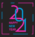 2021 happy new year background 2021 logo design vector image vector image
