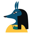 a jackal faced ancient god death vector image vector image
