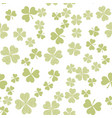 abstract seamless pattern with green shamrock vector image vector image