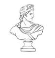 apollo sculpture actual classic ancient statue vector image vector image