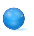 blue glass ball 3d sphere vector image