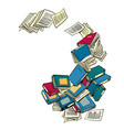 books library or bookstore concept study vector image