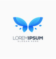 butterfly logo design ready to use vector image vector image