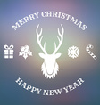 Christmas design with deer vector image vector image