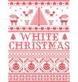 christmas pattern white christmas carol vector image vector image