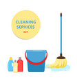 cleaning service banner vector image vector image