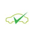 creative car check mark logo design symbol vector image vector image