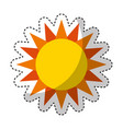 cute sun isolated icon vector image vector image