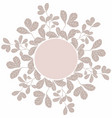 decoration circle template with floral elements vector image