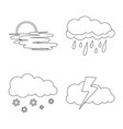 design of weather and climate sign set of vector image