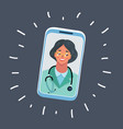 doctor talk on phone vector image