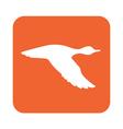 duck icon vector image vector image