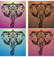 Ethnic patterned head of elephant vector image vector image