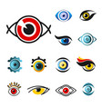 eye isolated icons pupils vision or sight vector image vector image