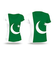 Flag shirt design of Pakistan vector image vector image