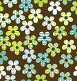 Floral seamless with patterned flowers vector image vector image