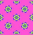 flower mandala seamless pattern pink background vector image
