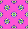 flower mandala seamless pattern pink background vector image vector image