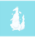 fluffy cloud icon in shape of kangaroo cute vector image vector image