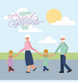 grandparenst day card vector image vector image