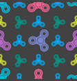 Hand spinners seamless pattern on white background