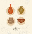 handmade clay pottery workshop artisanal creative vector image vector image