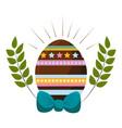happy easter egg design vector image