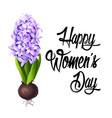 happy women s day lettering design vector image vector image