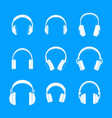headphones music speakers icons set simple style vector image vector image