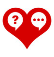 heart chat icon simple style vector image vector image