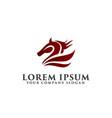 horse logo design concept template vector image vector image