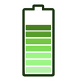 isolated battery icon vector image