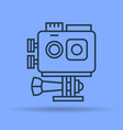 isolated linear icon of action camera vector image