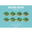 Isometric road creator elements for city building vector image