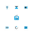 media colorful icons set collection of cast full vector image vector image