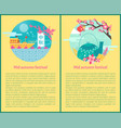 mid autumn festival posters vector image vector image