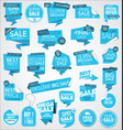 modern sale banners and labels blue collection vector image vector image