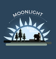 moonlight night vector image vector image