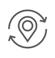navigation location and map line icon vector image vector image