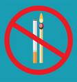 no smoking no open flame- fire open ignition vector image