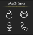 Online conference chalk icons set vector image vector image