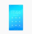 phone lock screen ui design vector image